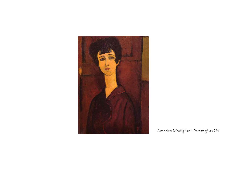 Amedeo Modigliani: Portait of a Girl