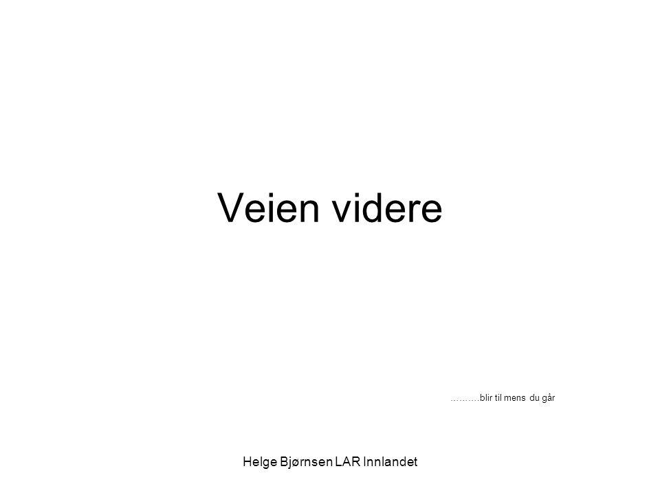 Helge Bjørnsen LAR Innlandet …..ved det gamle Kan hende er rusreformens hensikt – et bedre og mer helhetlig tjenestetilbud i ferd med å realiseres.