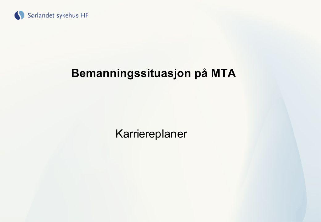 Bemanningssituasjon på MTA Karriereplaner