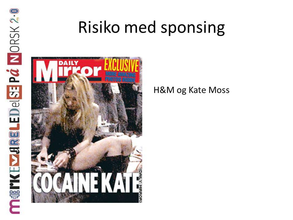 Risiko med sponsing H&M og Kate Moss