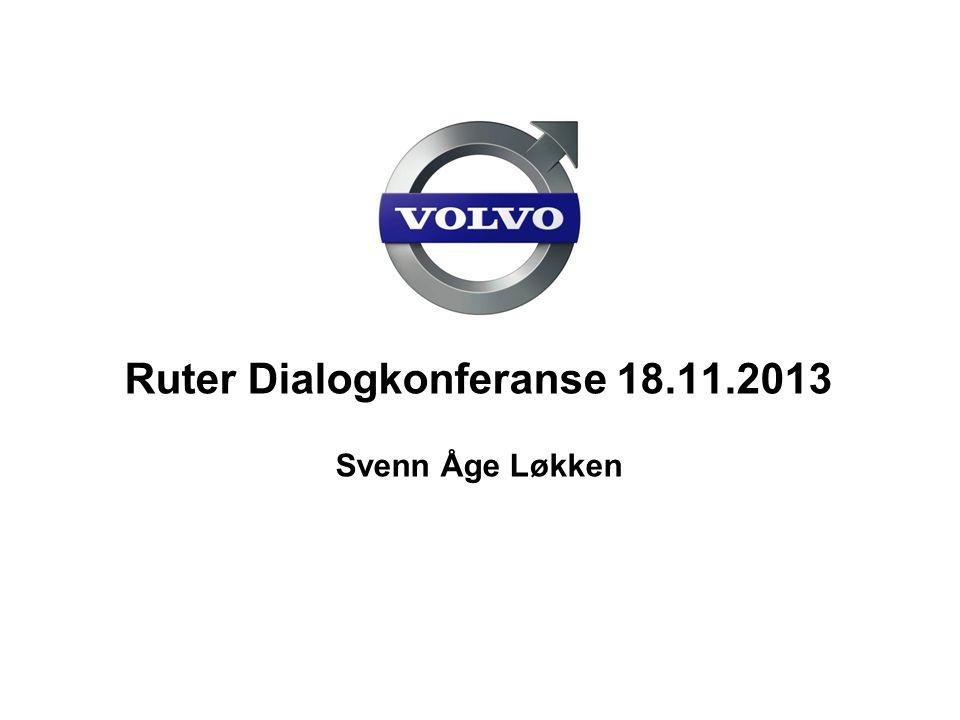 Volvo Buses Forslag til bussmateriellstrategi  Ros til Ruter  Lyttet til innspill  «kontroll» på design/markedsavdelingen – fortsatt for spesifikt  Walk the talk 2013-04-23