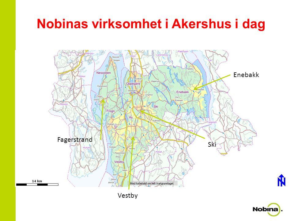 Nobinas virksomhet i Akershus i dag Enebakk Ski Vestby Fagerstrand