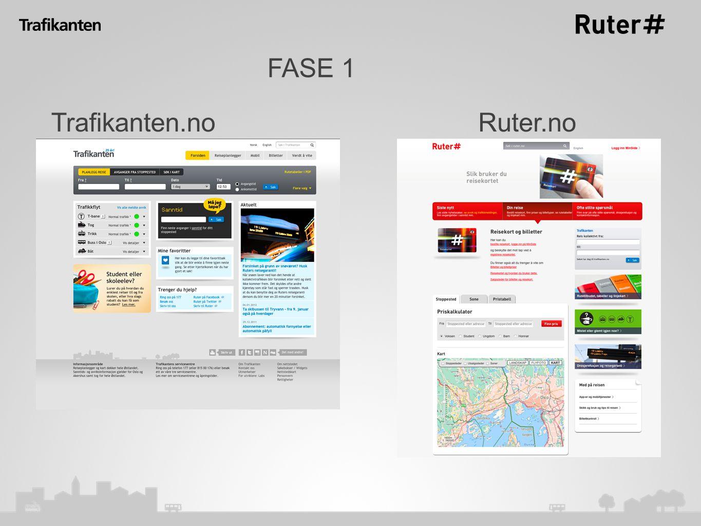 FASE 1 Trafikanten.noRuter.no