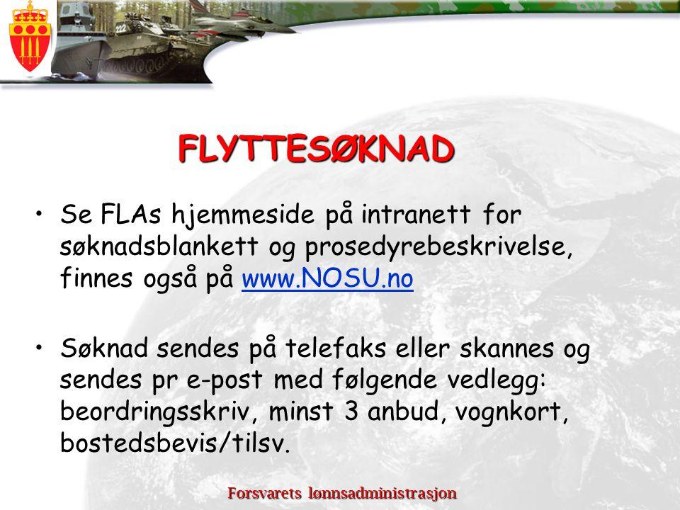 Forsvarets lønnsadministrasjon Kontaktpunkter ved FLA S.