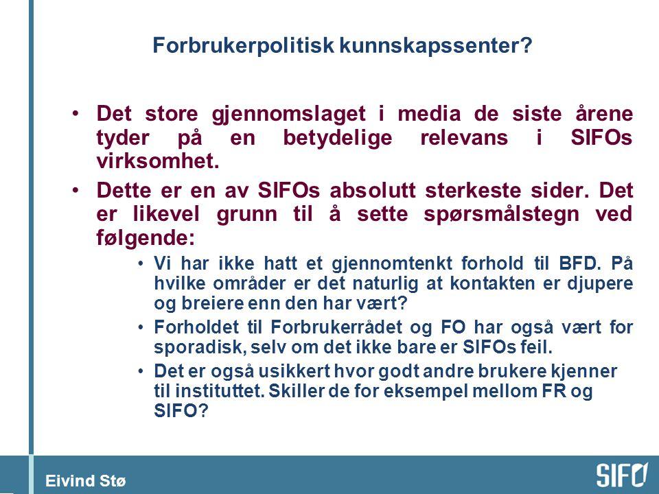 Eivind Stø Forbrukerpolitisk kunnskapssenter.