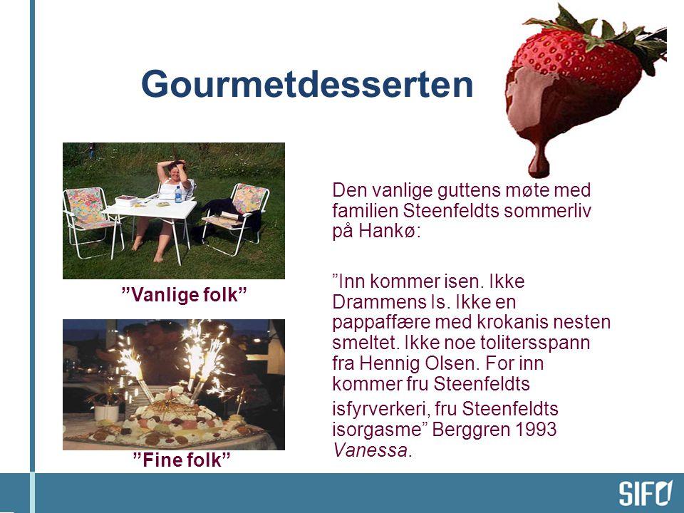 Gourmetdesserten Den vanlige guttens møte med familien Steenfeldts sommerliv på Hankø: Inn kommer isen.