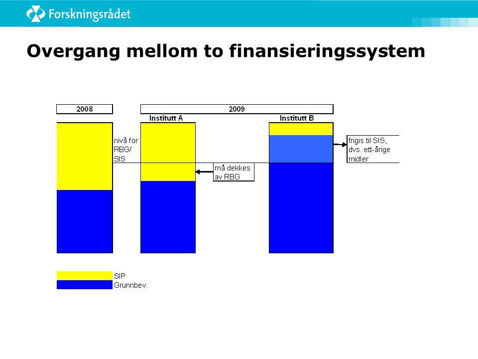 Overgang mellom to finansieringssystem