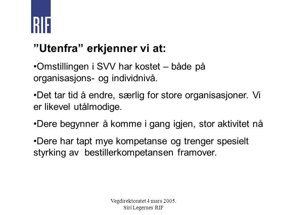 Vegdirektoratet 4 mars 2005.
