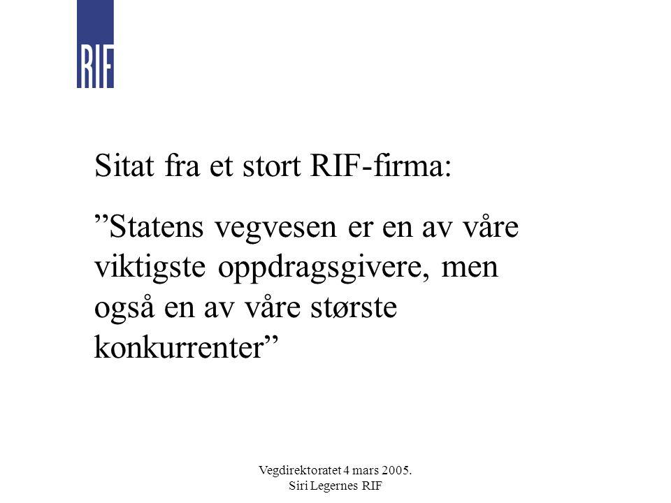 Vegdirektoratet 4 mars 2005.Siri Legernes RIF FoU Hva er unike forskningsmiljø .