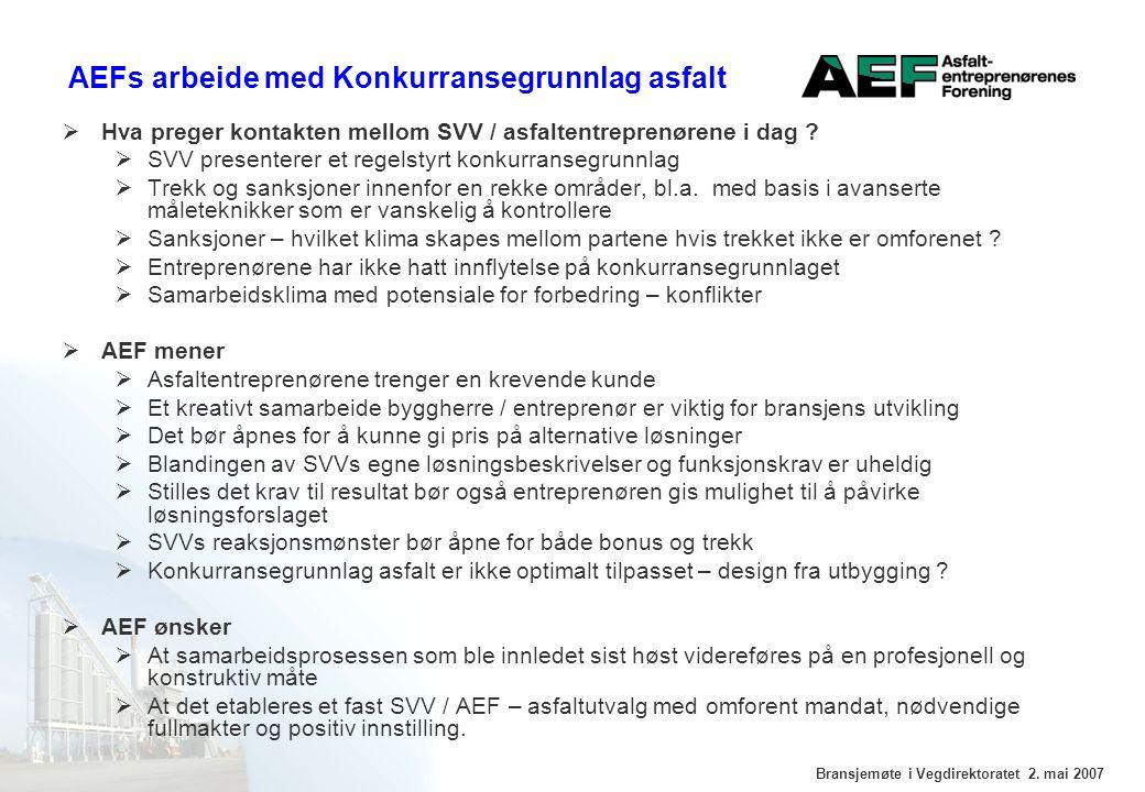 Bransjemøte i Vegdirektoratet 2.