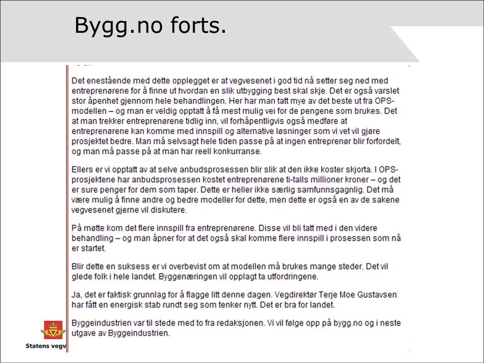 Bygg.no forts.