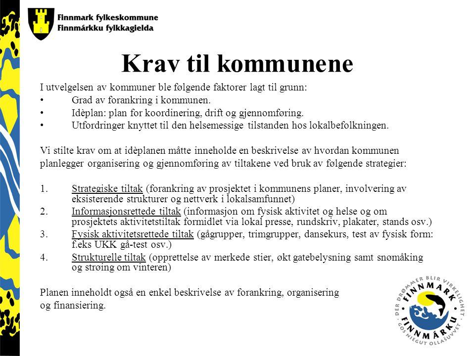 Prosjektet er i gang Tana, Hasvik, Nordkapp og Vadsø kommune fikk innvilget deltakelse.