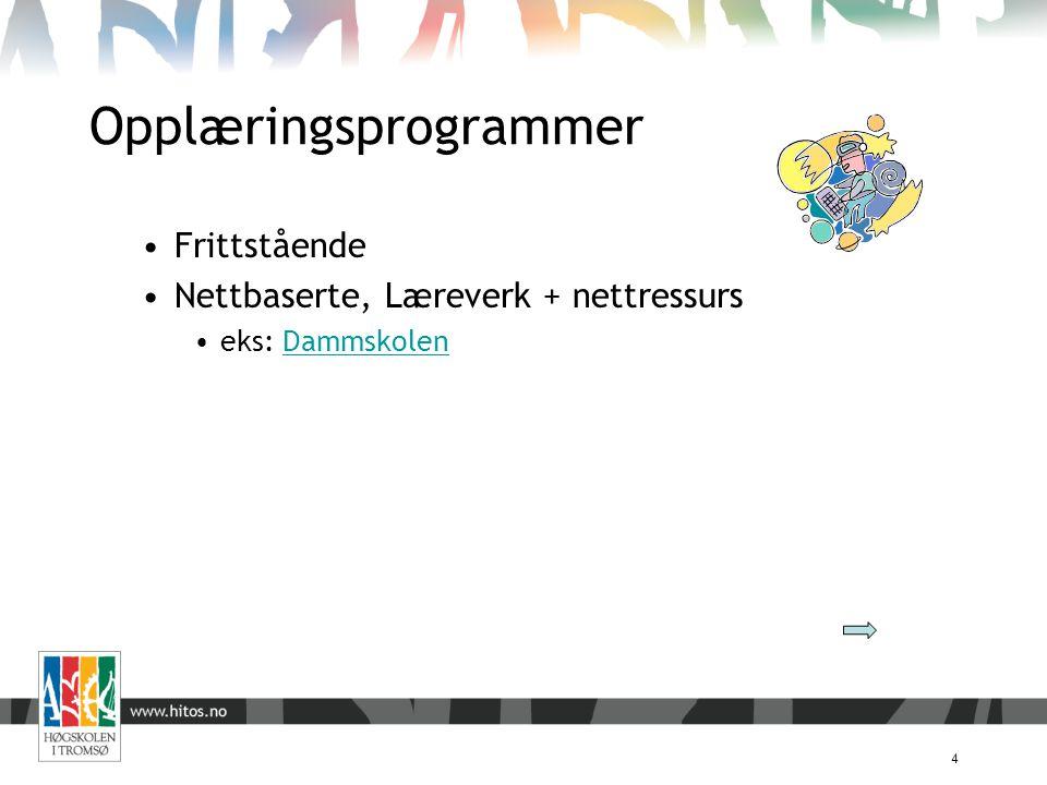 Opplæringsprogrammer 4 Frittstående Nettbaserte, Læreverk + nettressurs eks: DammskolenDammskolen