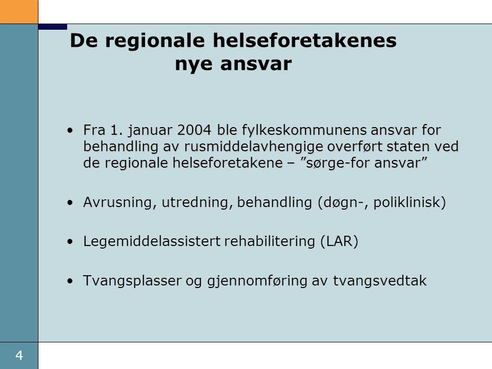 4 De regionale helseforetakenes nye ansvar Fra 1.