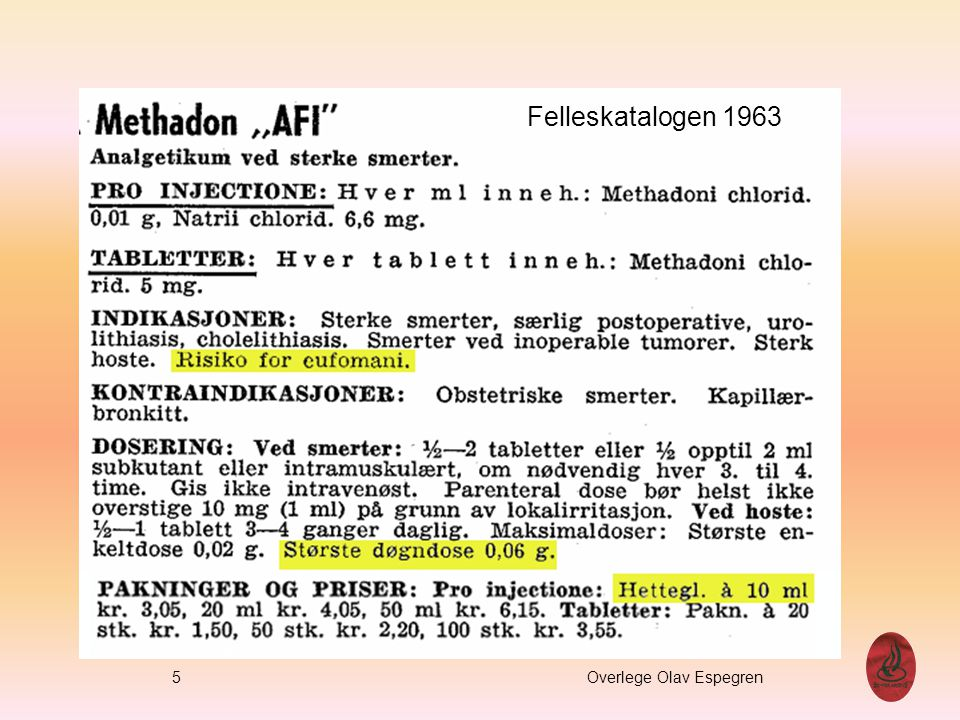 5 Overlege Olav Espegren Felleskatalogen 1963