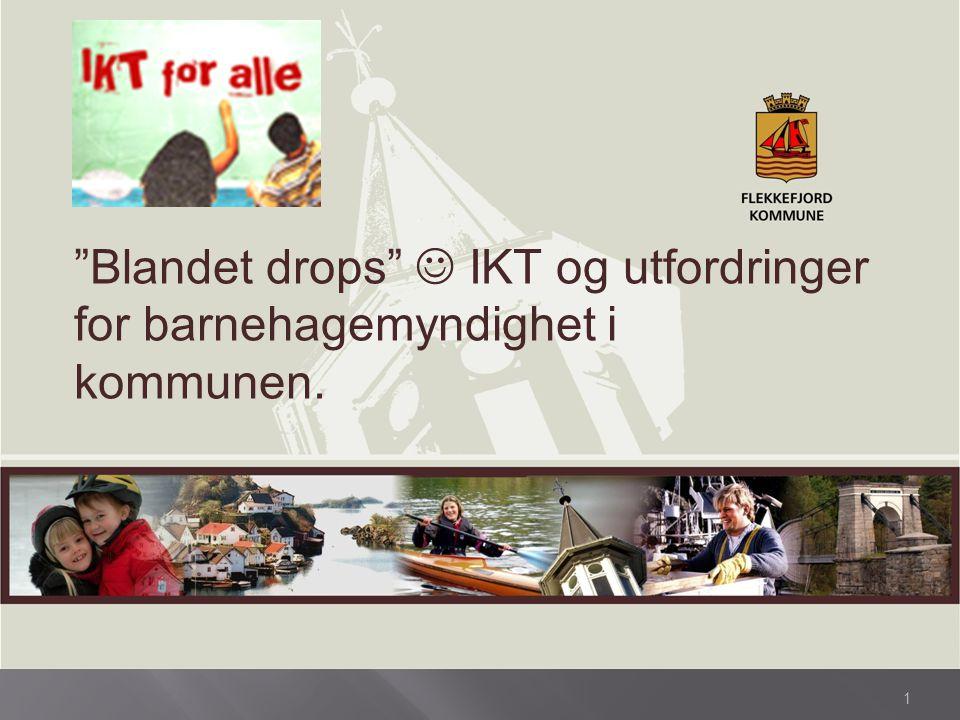 """1 """"Blandet drops"""" IKT og utfordringer for barnehagemyndighet i kommunen."""