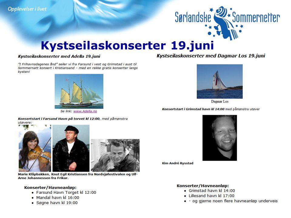 Kystseilaskonserter 19.juni