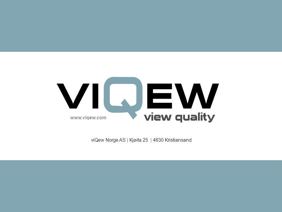 www.viqew.com viQew Norge AS | Kjøita 25 | 4630 Kristiansand