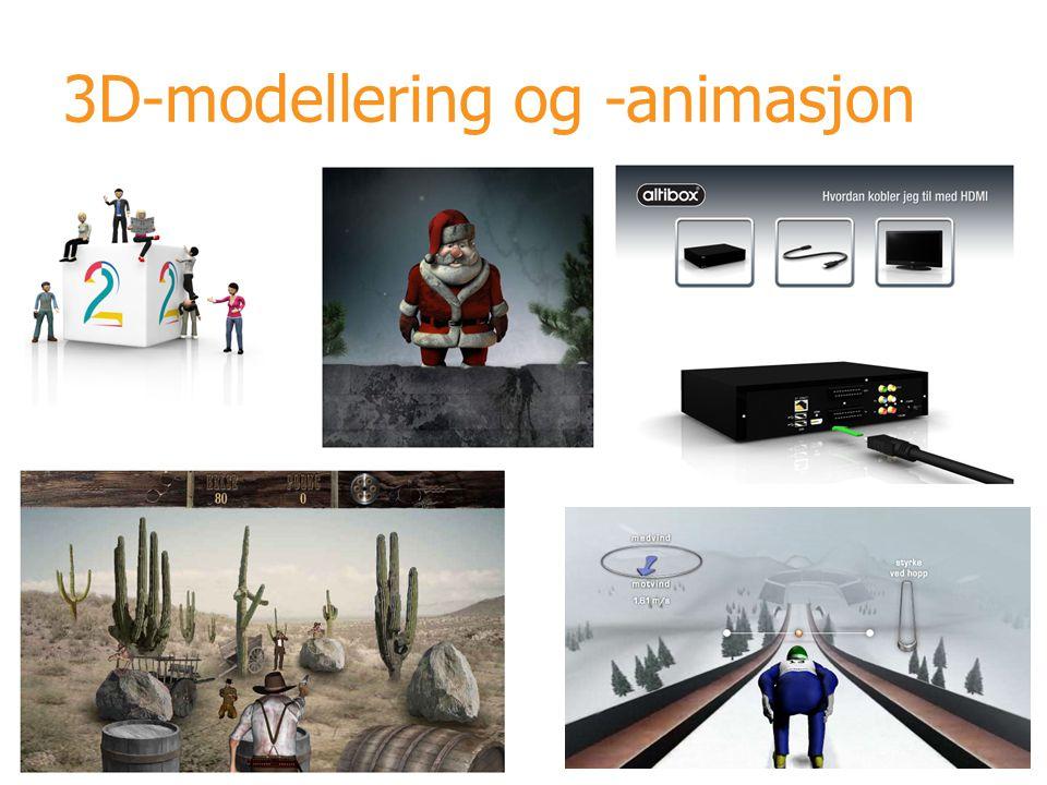 3D-modellering og -animasjon
