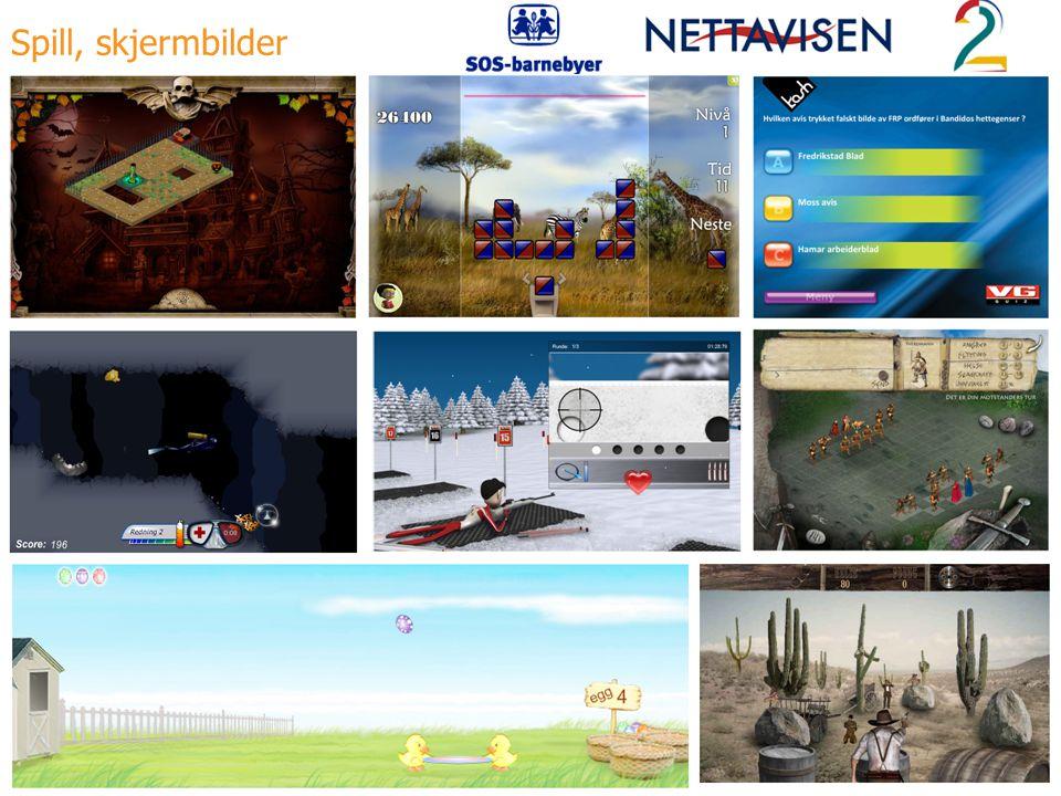Spill, skjermbilder