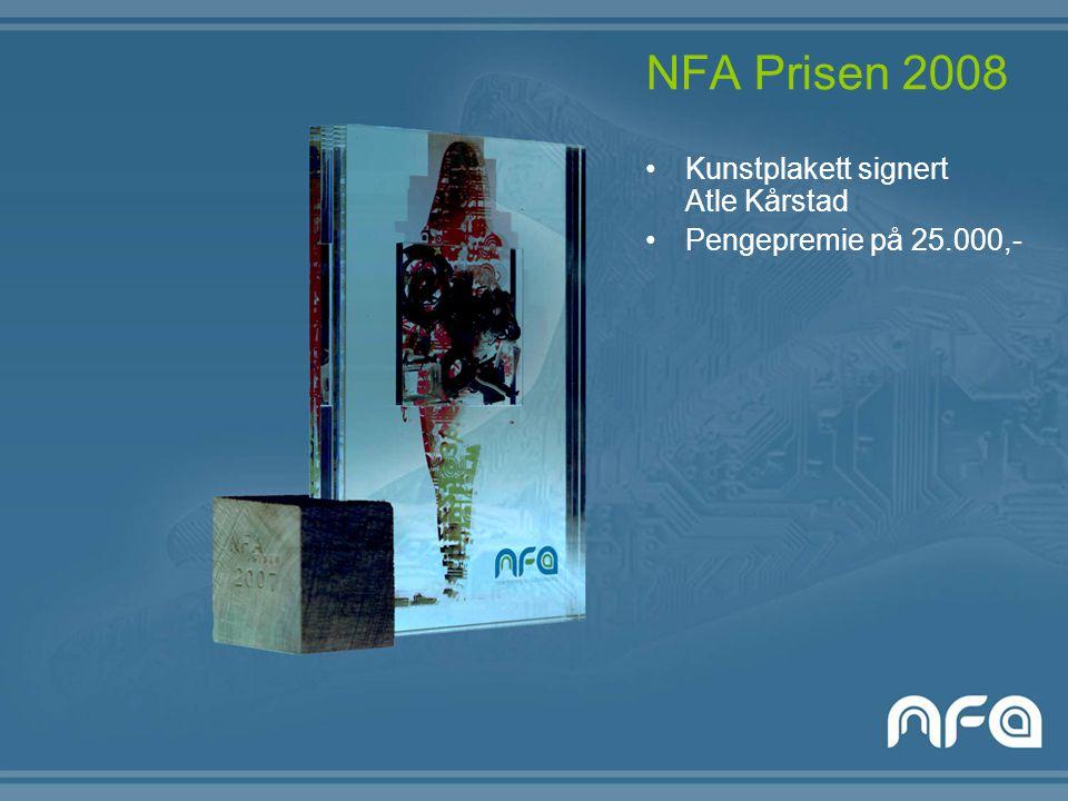 NFA Prisen 2008 Kunstplakett signert Atle Kårstad Pengepremie på 25.000,-