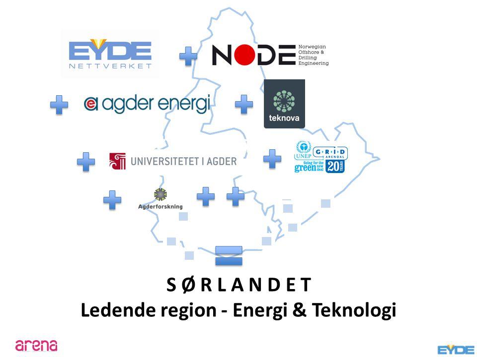 EYDE-NETTVERKET S Ø R L A N D E T Ledende region - Energi & Teknologi