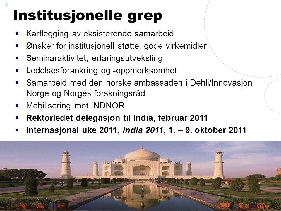 9 NTNU- delegation to India February 6 – 12, 2011