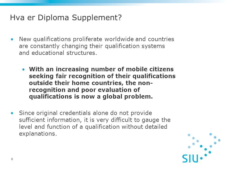 Hva er Diploma Supplement.