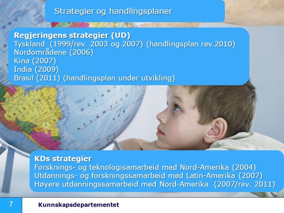 7 Kunnskapsdepartementet Strategier og handlingsplaner Strategier og handlingsplaner Regjeringens strategier (UD) Tyskland (1999/rev.