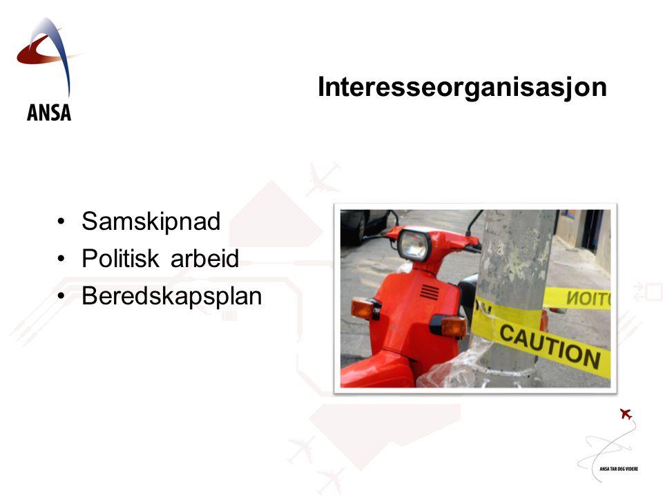 Interesseorganisasjon Samskipnad Politisk arbeid Beredskapsplan