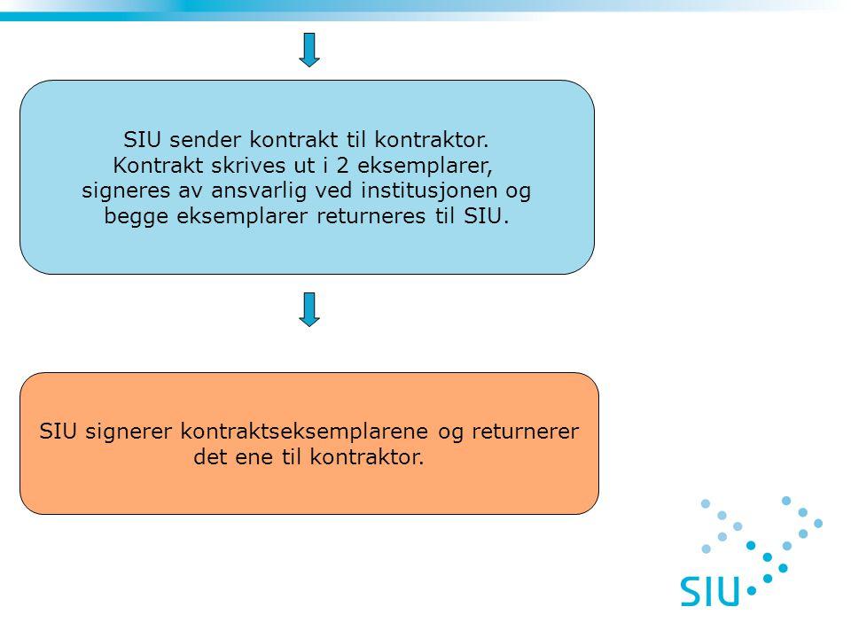 SIU sender kontrakt til kontraktor.