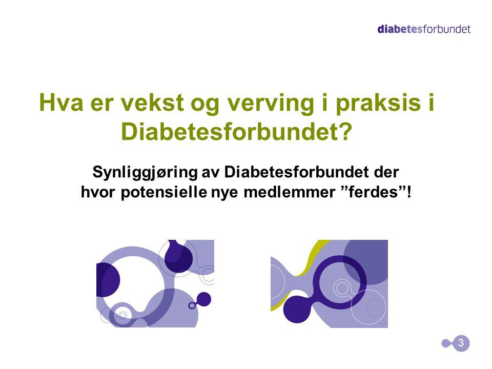Hva er vekst og verving i praksis i Diabetesforbundet.