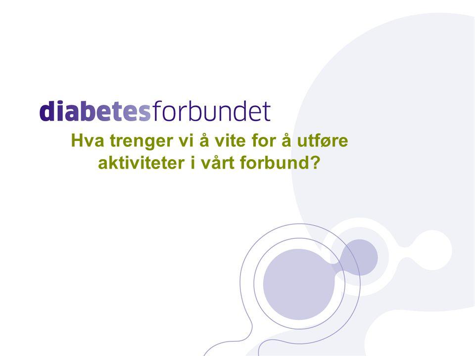 Bakgrunnsinformasjon Overordnede mål: At personer med diabetes ikke skal få sitt liv forkortet eller sin livskvalitet redusert på grunn av sin sykdom Å stimulere til forskning slik at vi i framtiden kan helbrede og forebygge diabetes og dens komplikasjoner 5