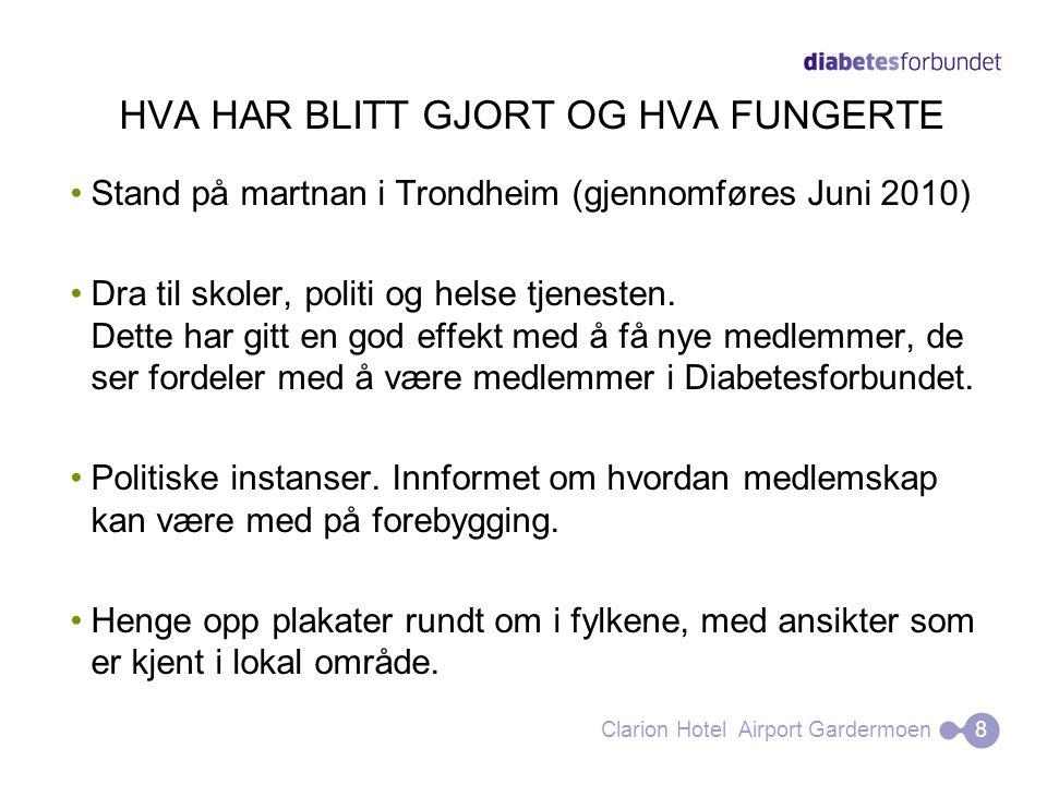 HVA HAR BLITT GJORT OG HVA FUNGERTE Stand på martnan i Trondheim (gjennomføres Juni 2010) Dra til skoler, politi og helse tjenesten. Dette har gitt en