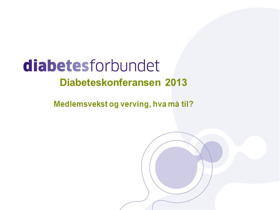 Diabeteskonferansen 2013 Medlemsvekst og verving, hva må til 1