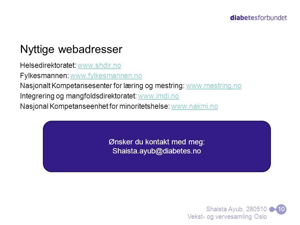 Nyttige webadresser Helsedirektoratet: www.shdir.nowww.shdir.no Fylkesmannen: www.fylkesmannen.nowww.fylkesmannen.no Nasjonalt Kompetansesenter for læ