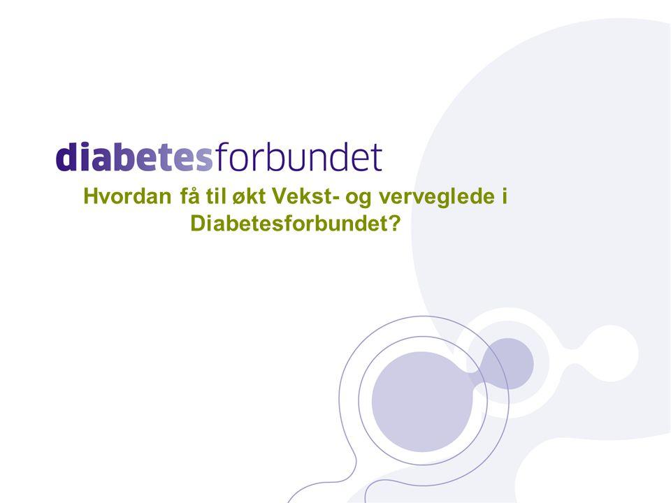 Hvordan få til økt Vekst- og verveglede i Diabetesforbundet 27