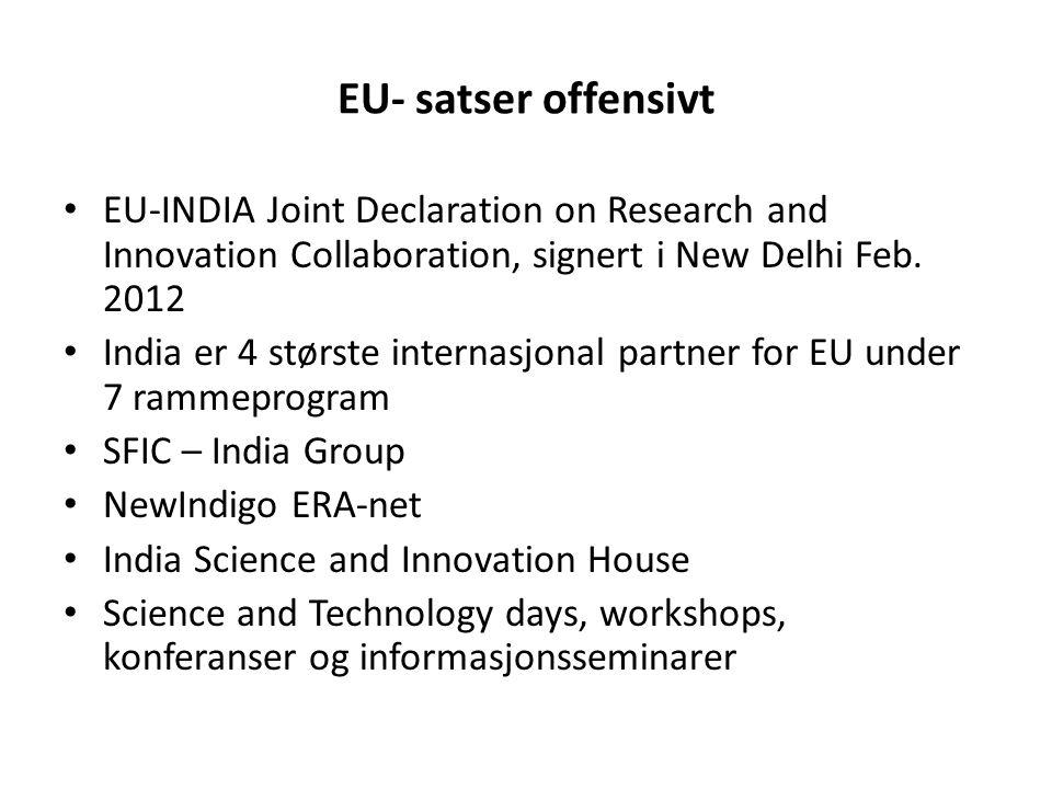 Hvorfor samarbeider Norge med India.