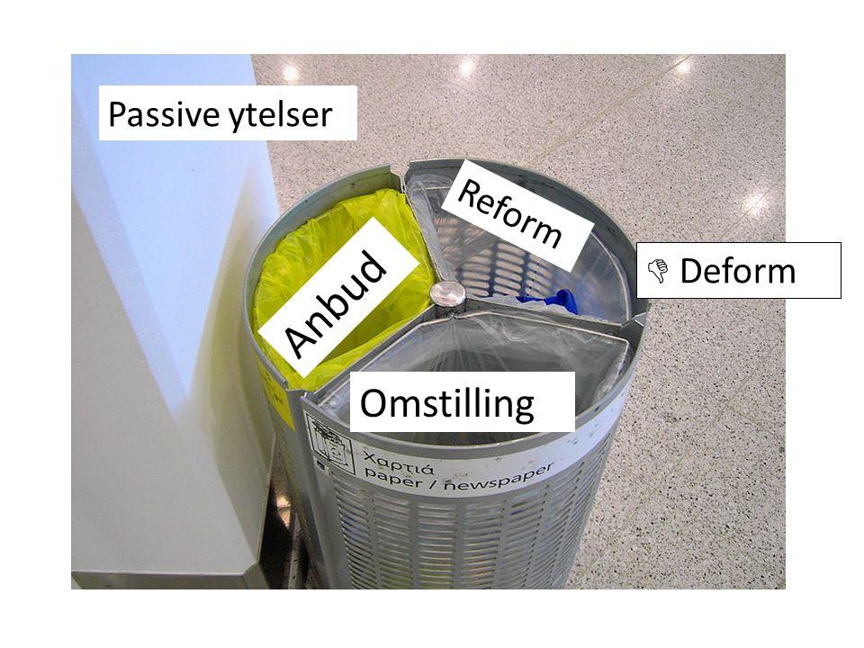 Omstilling Anbud Reform Passive ytelser  Deform
