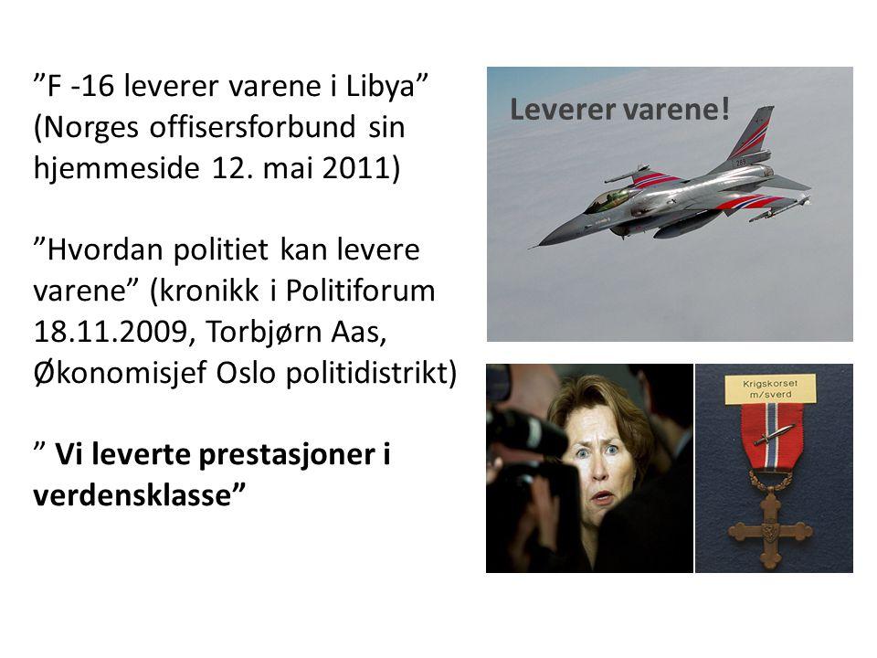 F -16 leverer varene i Libya (Norges offisersforbund sin hjemmeside 12.