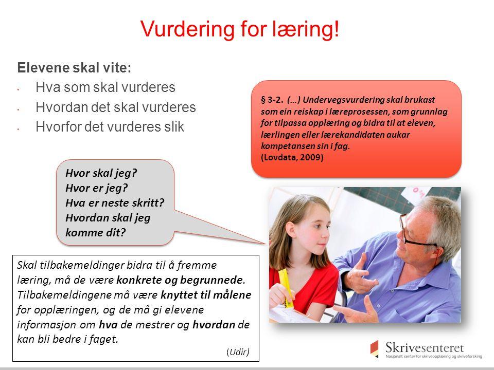 Vurdering for læring.