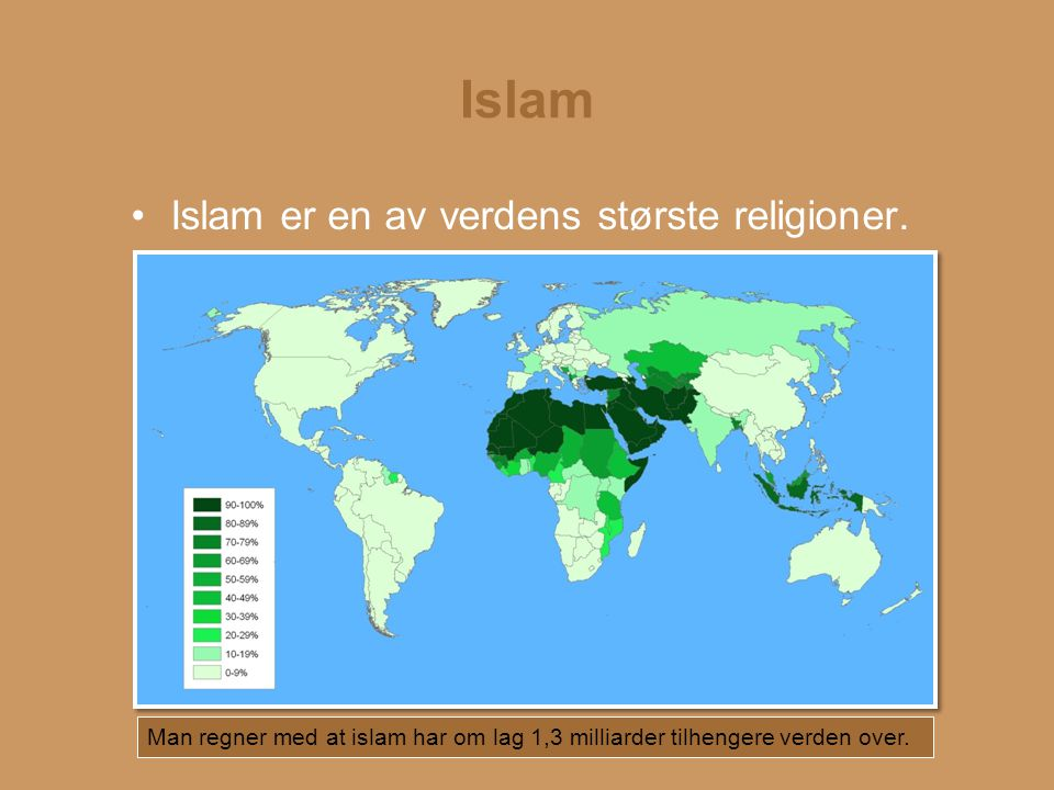 Islam Islam = navnet på religionen Muslim = kalles en som tror på religionen Islam I islam er Guds navn Allah.