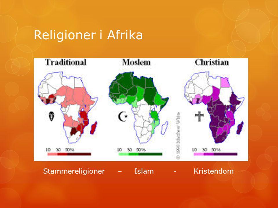 Religioner i Afrika Stammereligioner – Islam - Kristendom