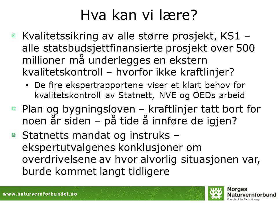 www.naturvernforbundet.no Hva kan vi lære.