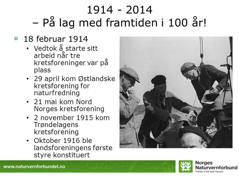 1914 - 2014 – På lag med framtiden i 100 år.