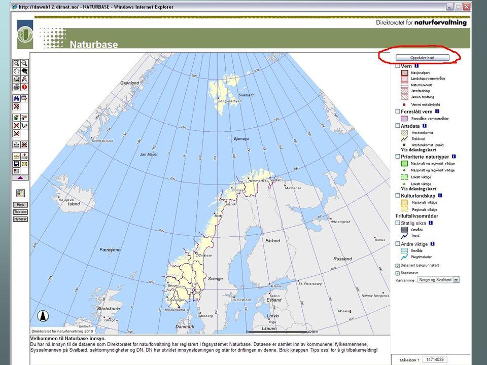 Artskart http://artskart.artsdatabanken.no /FaneArtSok.aspx Artsobs Lavdatabasen Soppdatabasen Norsk BryologiDatabase (NBD)