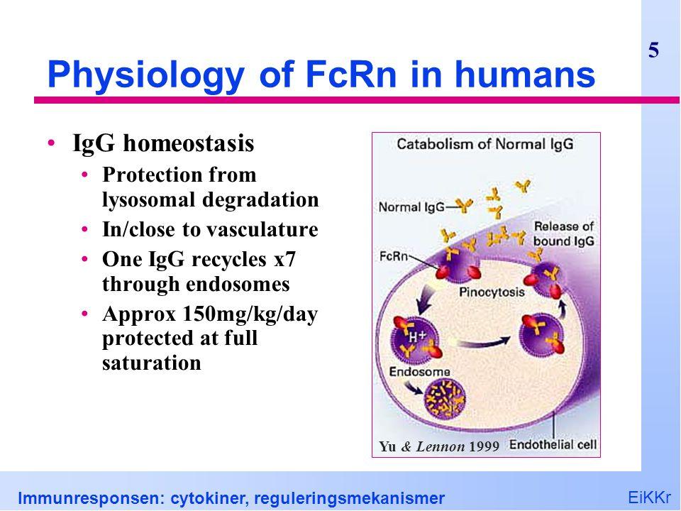 EiKKr Immunresponsen: cytokiner, reguleringsmekanismer 26 Ballansert suppresjon?