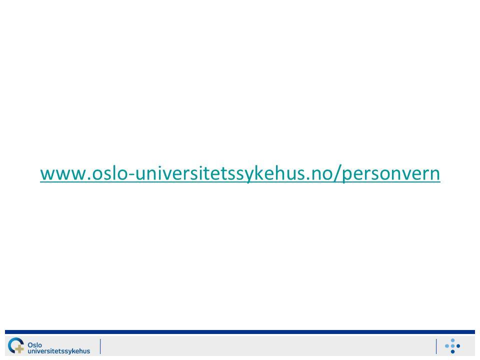 www.oslo-universitetssykehus.no/personvern