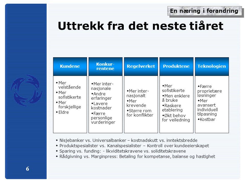 37 Nordisk konkurranse sterkest i Norge Nordiske bankers tilstedeværelse i markedet for personer og SMB-kunder i andre land enn sitt hjemland SverigeDanmarkFinlandNorge Konsekvensene