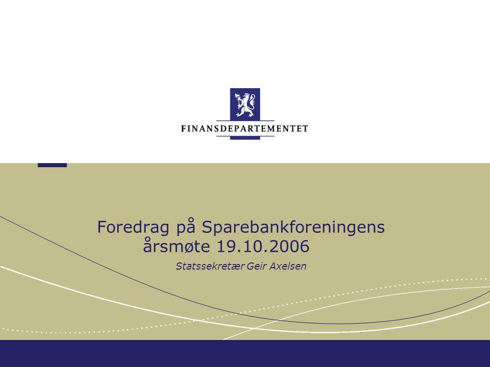 Finansdepartementet Et budsjett som gjør forskjell, et budsjett for..